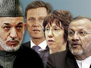 Gäste Münchner Sicherheitskonferenz, Montage: sueddeutsche.de, AFP dpa