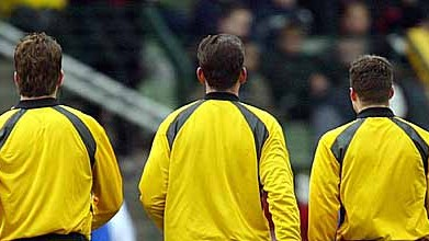 Schiedsrichter Hoyzer, Gräfe, Zwayer (v.li.), dpa