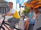 Der Journalist als Rikschafahrer (Bild)