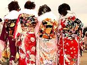 Kimono Schüleraustausch Japan