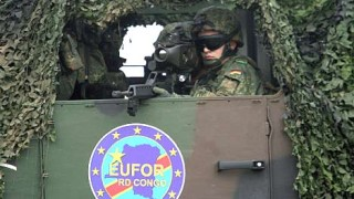 Bundeswehrsoldaten unterwegs im Kongo