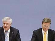 Horst Seehofer CSU Guido Westerwelle FDP Außenminister AP