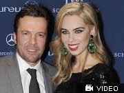 Lothar Matthäus und seine Frau Liliana; AP