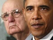 US-Präsident Barack Obama (rechts) und der frühere Notenbankchef Paul Volcker, Foto: Reuters