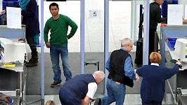 Sicherheitspanne am Flughafen