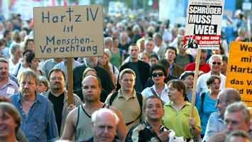 Montagsdemos gegen Hartz-IV-Reform