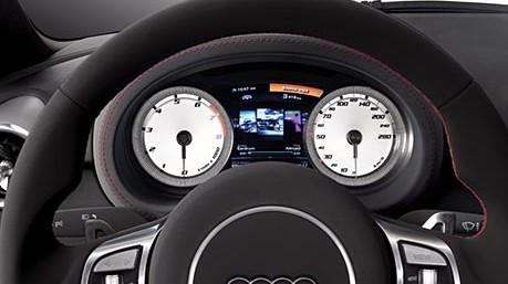 Armaturen auto  Audi A1 - Sportliche, weiß hinterlegte Armaturen. - Audi - Auto ...