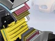 Das von Siemens VDO entwickelte eCorner-System integriert Antrieb, Lenkung, Stoßdämpfer und Bremse im Rad. Auto Elektronik