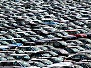 autos auf parkplatz; ddp