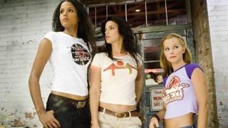 Drei Frauen in Gefahr: Sydney Tamiia Poitier als Jungle Julia, Vanessa Ferlito als Arlene und Jordan Ladd als Shanna in Death Proof von Tarantino.