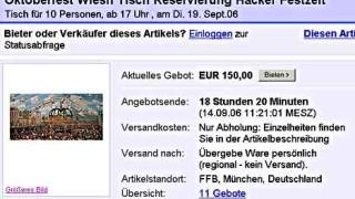 Ebay Auktion Wiesn Tische Fur 500 Euro Munchen Suddeutsche De
