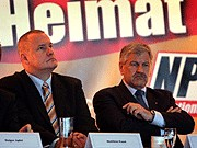 Streit bei den rechten Parteien, NPD kündigt Pakt mit  DVU; Deutschlandpakt; Foto: ddp