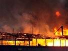 """""""Cutty Sark"""" stand in Flammen (Bild)"""