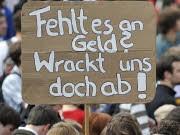 Bildungsstreik Berlin Universitäten Hochschulen Uni-Etats, ap