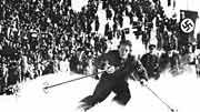 Christl Cranz bei den Olympischen Winterspielen 1932 in Garmisch-Partenkirchen.
