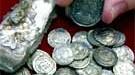 Silbermünzen dpa