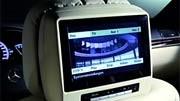 Bildschirm, Kop, Fernsehen im Auto, DVB-T, TV, Bildschirm, Kopfstütze, Mercedes Benz, S-Klasse, Foto: Mercedesfstütze, Mercedes Benz, S-Klasse.