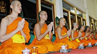 Buddhistische Mönche in Thailand