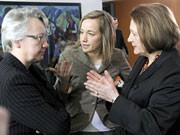 Annette Schavan, Kristina Schröder, Sabine Leutheusser-Schnarrenberger; dpa