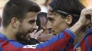 Gerard Piqué, Zlatan Ibrahimovic, Reuters