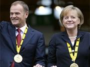Donald Tusk, Angela Merkel, Foto: dpa