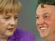 Angela Merkel Louis van Gaal