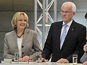 Hannelore Kraft, Jürgen Rüttgers; NRW; dpa