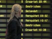 Warnstreik an Berliner Flughäfen