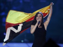 Lena from Germany performs her song 'Satellite' after winning the Eurovision Song Contest final in Oslo