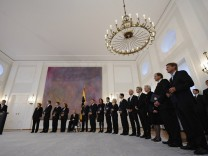 Ernennung des neuen Kabinetts