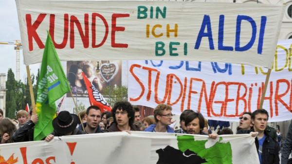 Protest gegen Studiengebühren in München, 2010