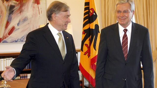 Jens Böhrnsen, Horst Köhler; dpa