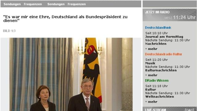 Horst Köhler Deutschlandfunk
