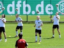 Training Fußball-Nationalmannschaft in Südtirol