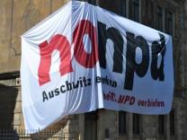 NPD-Bundesparteitag - Protest