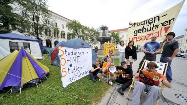 Protest gegen Studiengebühren in München, 2009