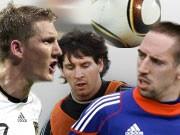 WM Spielplan mit Schweinsteiger, Messi und Ribery
