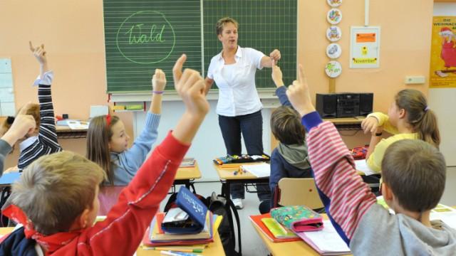 Frontalunterricht in einer Grundschule