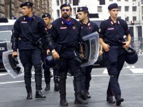 Italienische Polizei in Genua