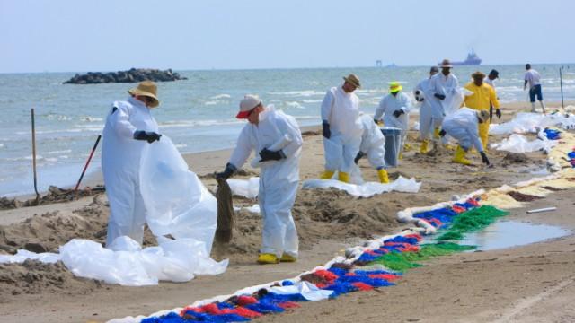 Ölkatastrophe Golf von Mexiko Aufräumarbeiten PR