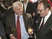 Kanzlerkandidat Frank-Walter Steinmeier (links) und Harald Christ, Foto: dpa