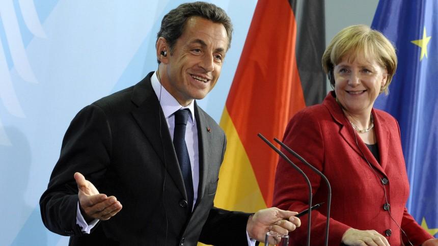 Merkel trifft franzoesischen Praesidenten Sarkozy