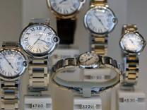 Nachfrage nach Luxusuhren schrumpft