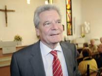 Erhält Zuspruch auch im bürgerlichen Lager: Präsidentschaftskandidat Joachim Gauck