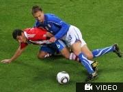 WM 2010: Italien gegen Paraguay; Videoflag