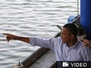 Barak Obama, Ölkrise am Golf von Mexiko; Videoflag