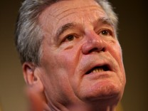 German Presidential Candidate Joachim Gauck Speaks With Foreign Journalists