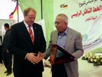 Bundesentwicklungsminister Dirk Niebel in Nablus