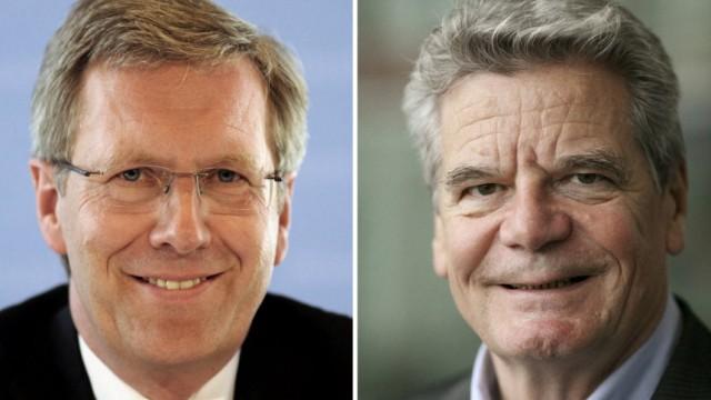 Kinderdienst: Christian Wulff tritt gegen Joachim Gauck fuer das Amt des Bundespraesidenten an