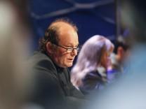 German writer Peter Wawerzinek reads his text during the annual Festival of German Language Literature in Klagenfurt